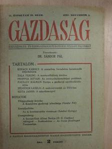 Facsady Kálmán - Gazdaság 1947. november 1. [antikvár]