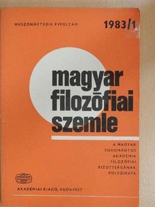 Bayer József - Magyar Filozófiai Szemle 1983/1 [antikvár]