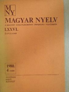A. Molnár Ferenc - Magyar Nyelv 1980. december (dedikált példány) [antikvár]