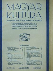 Balla Borisz - Magyar Kultúra 1933. február 5. [antikvár]