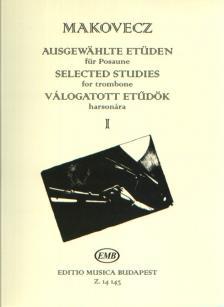 VÁLOGATOTT ETŰDÖK HARSONÁRA I (MAKOVECZ PÁL)