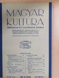 B. B. - Magyar Kultúra 1933. március 5. [antikvár]