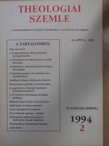 Boross Géza - Theologiai Szemle 1994/2. [antikvár]
