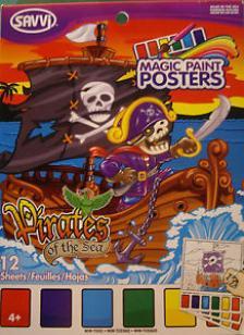 Pirate Paint Posters, Kalóz Kifestő