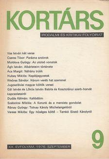 Bécsy Tamás - Kortárs 1976, XX. évf. 9. szám [antikvár]