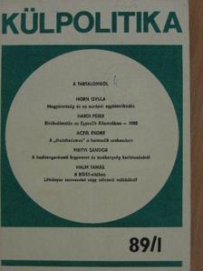 Aczél Endre - Külpolitika 1989/1. [antikvár]