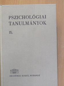 Varga Zoltán - Pszichológiai tanulmányok IX. [antikvár]