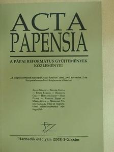 Aradi Gábor - Acta Papensia 2003/1-2. [antikvár]
