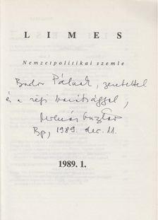 Molnár Gusztáv - Limes 1989/1. (dedikált) [antikvár]