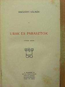 Mikszáth Kálmán - Urak és parasztok [antikvár]