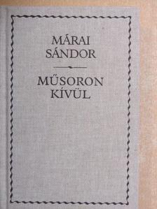 Márai Sándor - Műsoron kívül [antikvár]