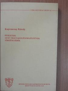 Kapronczay Károly - Fejezetek 125 év magyar egészségügyének történetéből [antikvár]