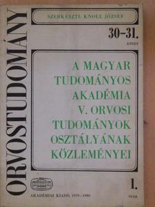 Gláz Edit - A Magyar Tudományos Akadémia V. Orvosi Tudományok Osztályának Közleményei 1. [antikvár]