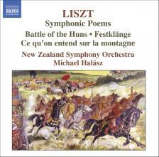 LISZT - SYMPHONIC POEMS: BATTLE OF THE HUNS, FESTKLANGE CD