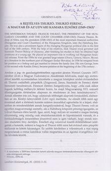 Gecsényi Lajos - A rejtélyes Thurzó. Thurzó Ferenc, a magyar és az udvari kamara elnöke (1549-1563) (Dedikált) [antikvár]