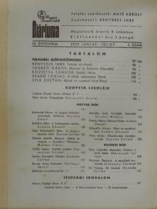Bartoniek Emma - Magyar Könyvbarátok Diáriuma 1939. június-július [antikvár]