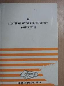 Ádám Tamás - Az állattenyésztési kutatóintézet közleményei 1980. [antikvár]