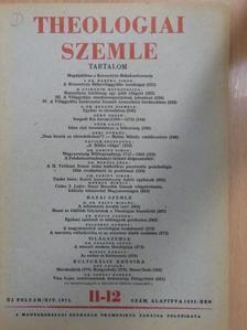 D. Dr. Pálfy Miklós - Theologiai Szemle 1971. november-december [antikvár]