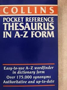 Collins Pocket Reference Thesaurus in A-Z form [antikvár]