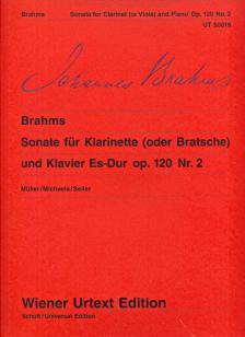 BRAHMS... - SONATE FÜR KLARINETTE (ODER BRATSCHE) UND KLAVIER ES-DUR OP.120 NR.2 WIENER URTEXT EDITION