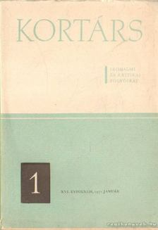 Kortárs 1972. XVI. évfolyam 1. [antikvár]