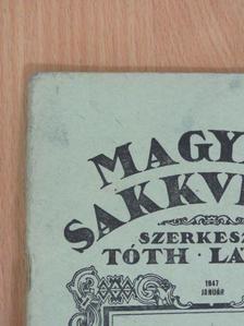 Balogh János - Magyar Sakkvilág 1947. január [antikvár]