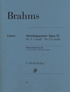 BRAHMS... - STREICHQUARTETTE OP.51 NR.1 e-MOLL, NR.2 a-MOLL URTEXT (S.REISER) STIMMEN