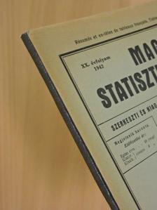 Dr. Áfra Nagy János - Magyar Statisztikai Szemle 1942. január-december [antikvár]