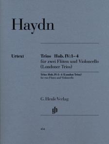 HAYDN J. - TRIOS HOB.IV:1-4 FÜR ZWEI FLÖTEN UND VIOLONCELLO URTEXT, STIMMEN