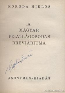 Koroda Miklós - A magyar felvilágosodás breviáriuma [antikvár]