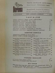 Ágoston Julián - Magyar Könyvbarátok Diáriuma 1939. január-február [antikvár]