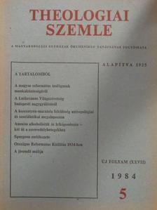Bartha Tibor - Theologiai Szemle 1984/5. [antikvár]