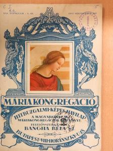 Bangha Béla - Mária Kongregáció 1927. szeptember [antikvár]