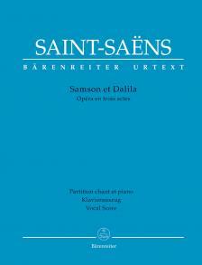 SAINT -SAENS - SAMSON ET DALILA. OÉRA EN TROIS ACTES. PARTITION CHANT ET PIANO (FRANCIA ÉS NÉMET NYELVEN)