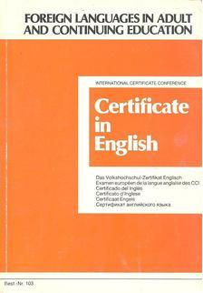 Certificate in English [antikvár]