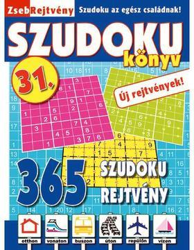 CSOSCH KIADÓ - ZsebRejtvény SZUDOKU Könyv 31.