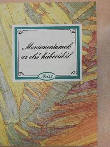 Hankiss Elemér - Monumentumok az első háborúból [antikvár]