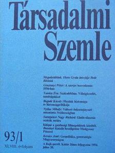 Bognár Károly - Társadalmi Szemle 1993. január [antikvár]