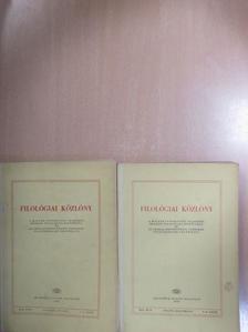 András T. László - Filológiai Közlöny 1966. január-december [antikvár]