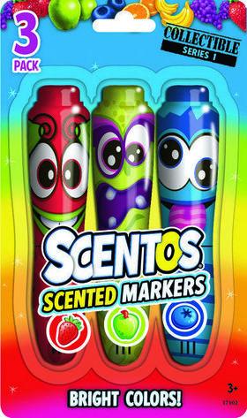 Scentos Illatos filctoll készlet 3 db - piros, zöld ,kék