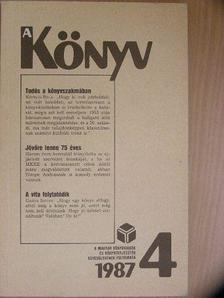 Ancsel Éva - A könyv 1987/1-4. [antikvár]