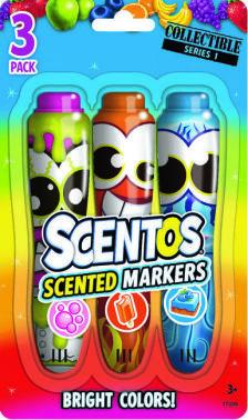 Scentos Illatos filctoll készlet 3 db - pink, narancs, kék