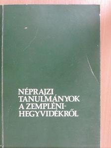 Bartha Elek - Néprajzi tanulmányok a Zempléni-hegyvidékről [antikvár]