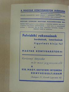 Ferenczy Valér - Magyar Könyvbarátok Diáriuma 1938. július-október [antikvár]