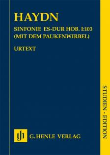 HAYDN JOSEPH - SINFONIE ES-DUR HOB. I:103 (MIT DEM PAUKENWIRBEL) STUDIEN EDITION