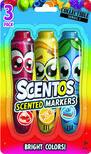.- - Scentos Illatos filctoll készlet 3 db - piros, sárga, kék