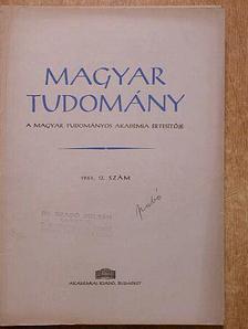 Berrár Jolán - Magyar Tudomány 1961. december [antikvár]
