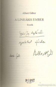 ALBERT GÁBOR - A lineáris ember (dedikált) [antikvár]