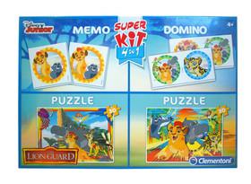 .- - Clementoni Puzzle 2x30 Oroszlán őrség + Memória + dominó