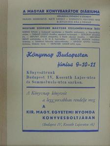 Dercsényi Dezső - Magyar Könyvbarátok Diáriuma 1938. május-július [antikvár]